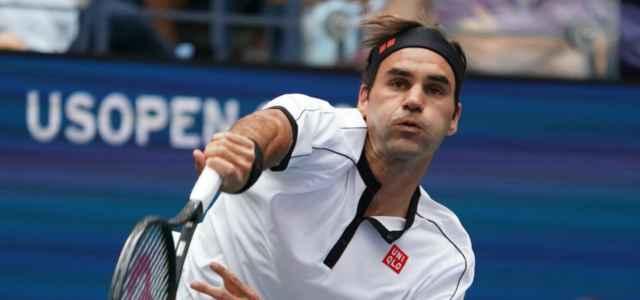 Roger Federer servizio Us Open lapresse 2019 640x300