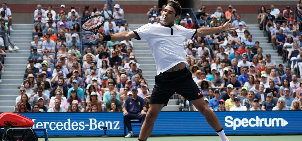 Roger Federer vola ai Quarti Us Open/ Video, Goffin ko: magia ...
