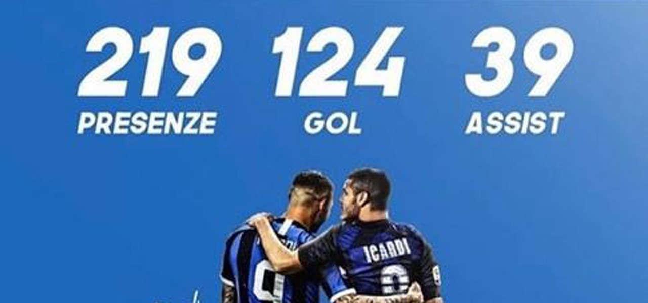 Icardi saluta l'Inter