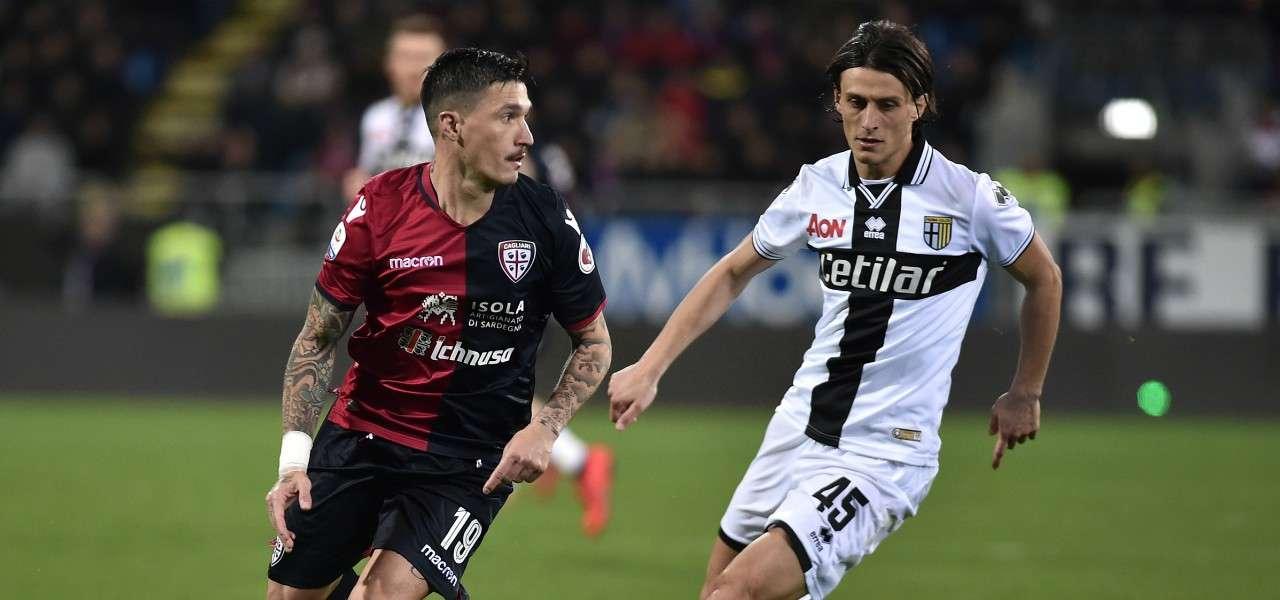 Pisacane Inglese Cagliari Parma lapresse 2019