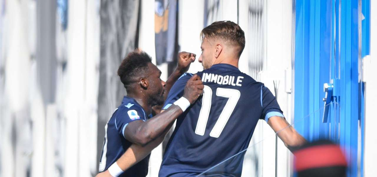 Caicedo Immobile Lazio gol lapresse 2019