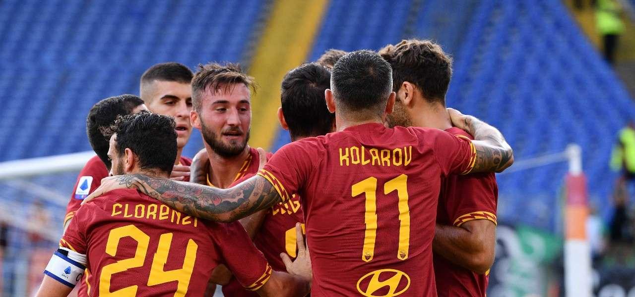 Cristante gol Roma gruppo lapresse 2019