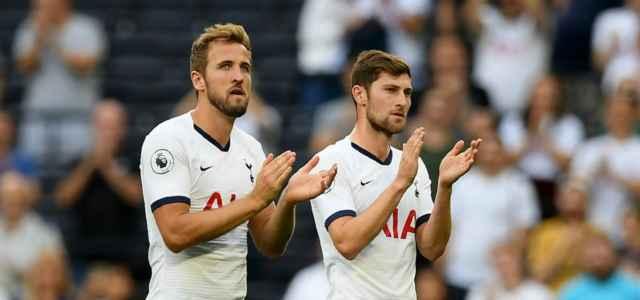 Kane e Vertonghen, attaccante e difensore del Tottenham (foto La Presse)