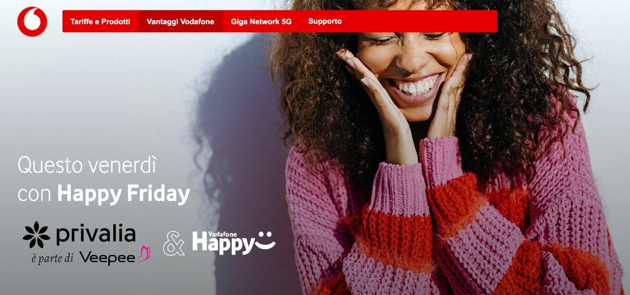 Privalia, Happy Friday di Vodafone/ Buono sconto di 20 euro: come ...