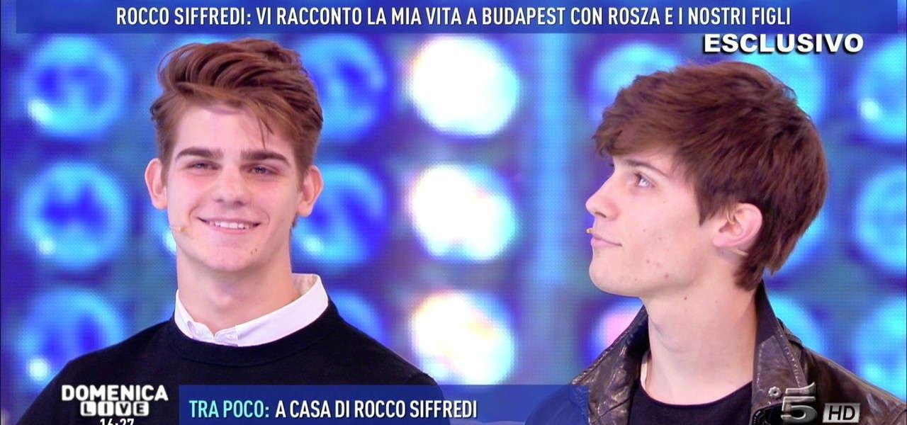 Leonardo E Lorenzo Tano, Figli Rocco Siffredi -5677