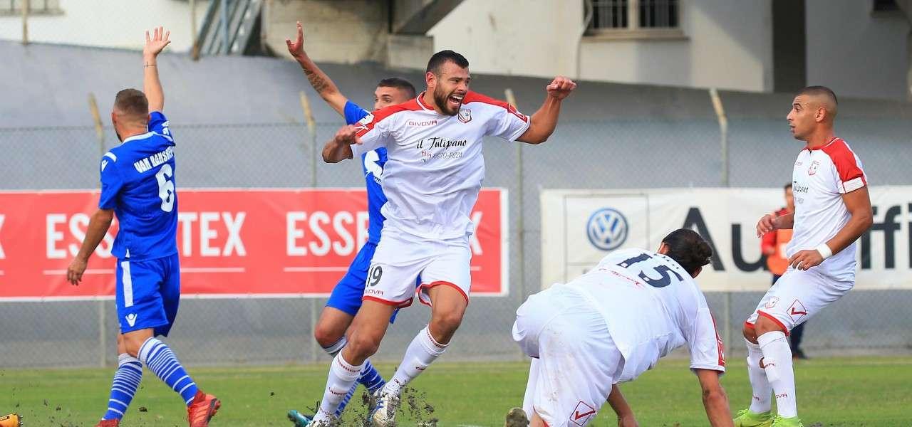 Vano gol Carpi Rimini lapresse 2019