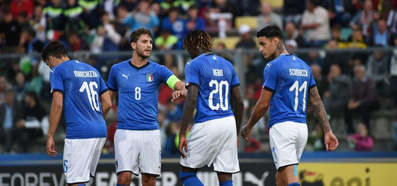 Marchizza Locatelli Kean Scamacca Italia U21 lapresse 2019