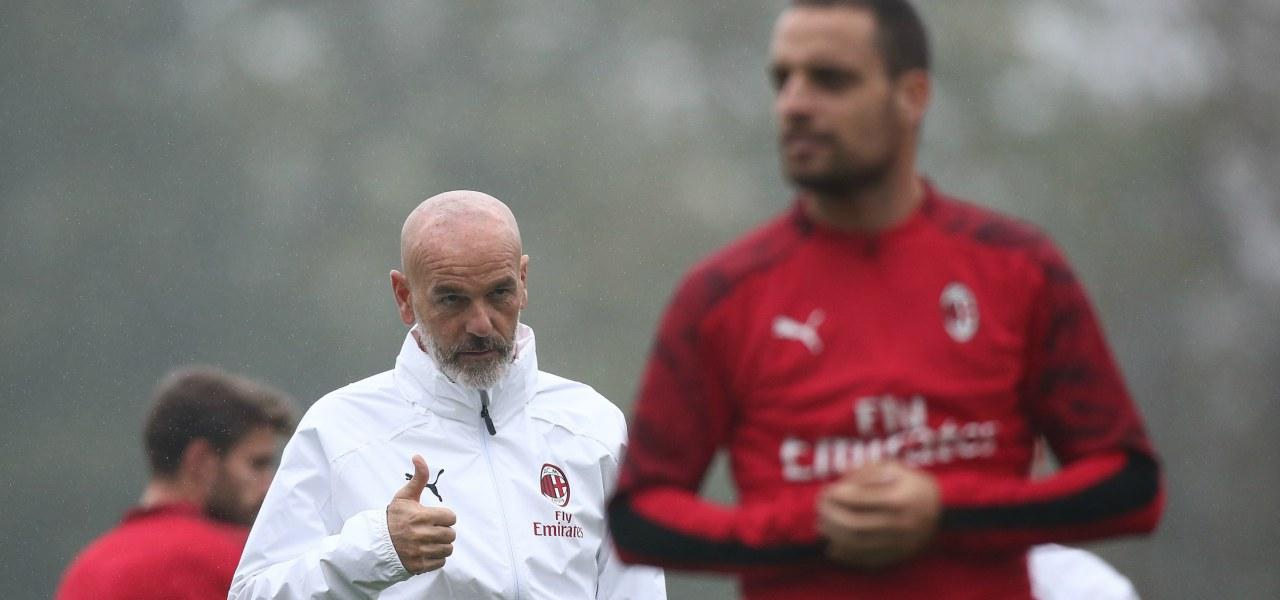 Milan Pioli allenamento Serie A