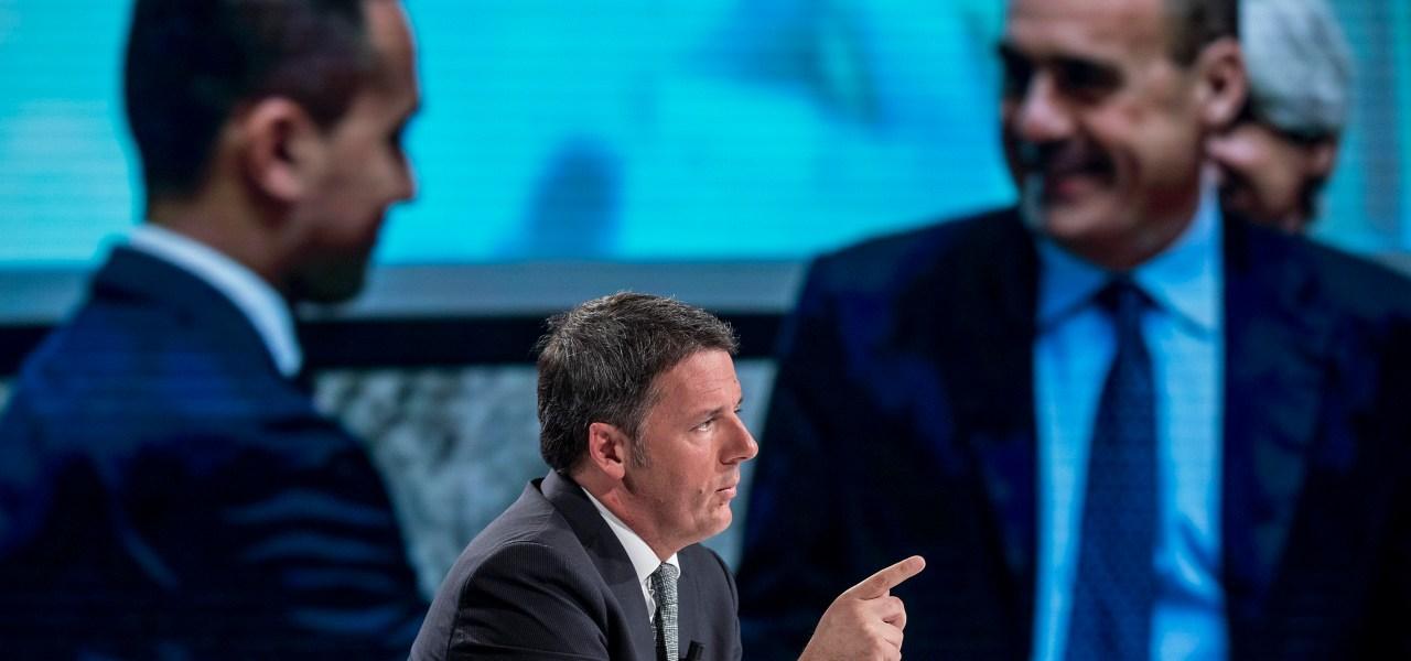 Renzi, Di Maio e Zingaretti