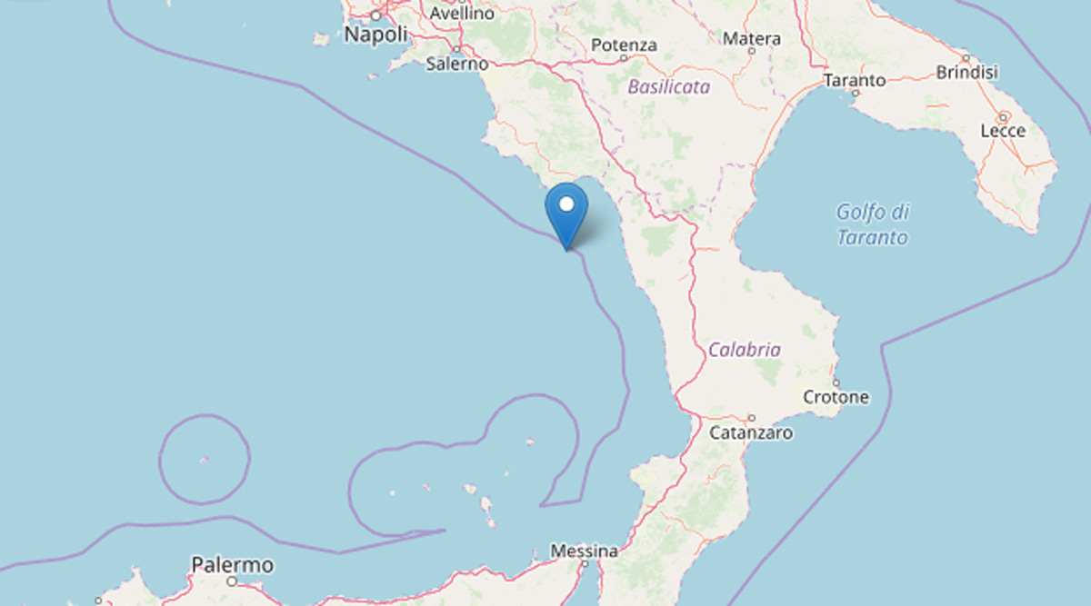 terremoto tirreno 2019 ingv