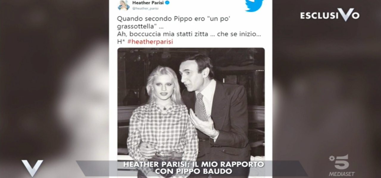 heather parisi pippo baudo tweet
