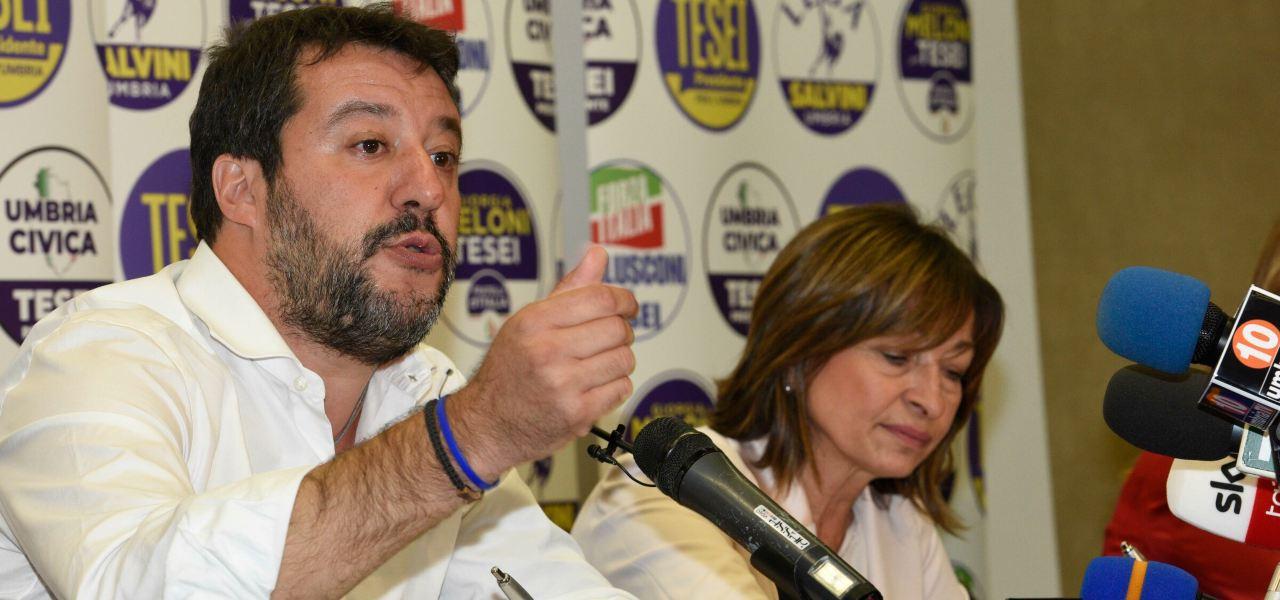 Salvini-Tesei a Perugia