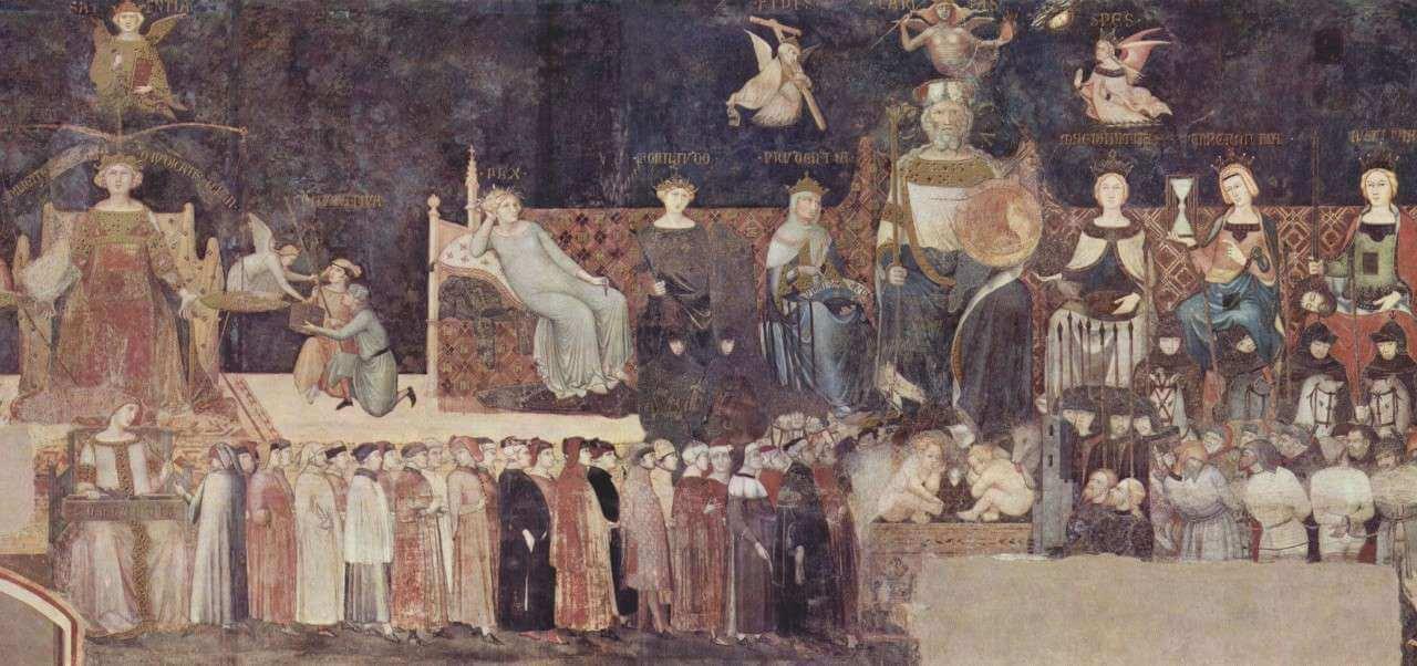 lorenzetti allegoria buongoverno politica 1 1339arte1280
