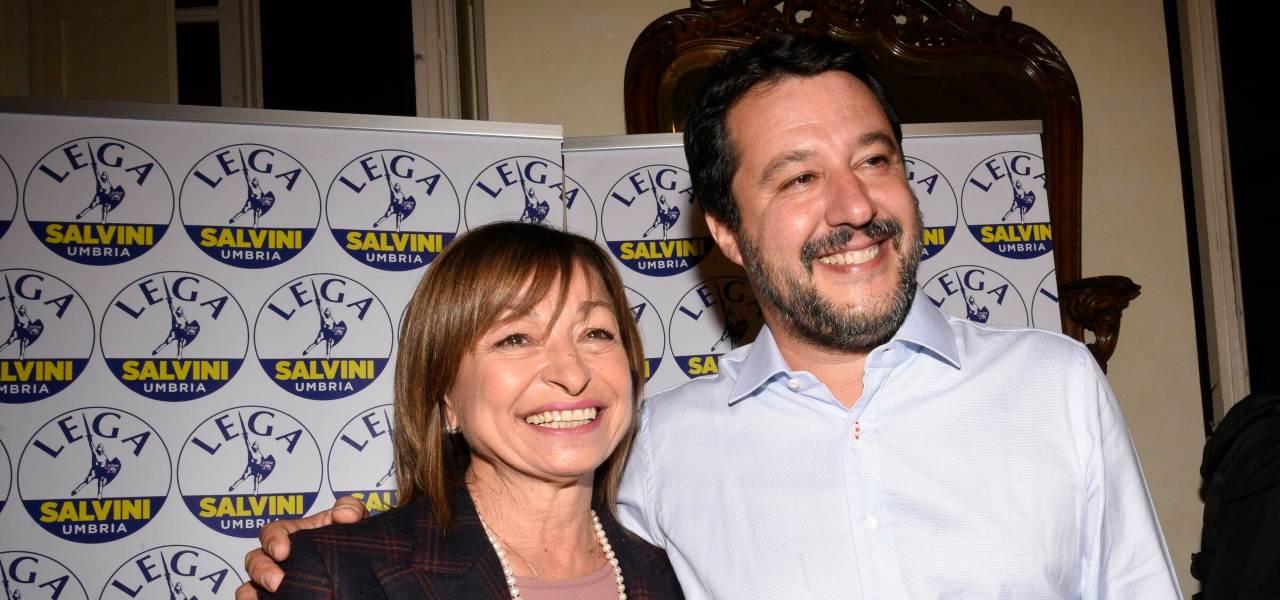 Donatella Tesei e Matteo Salvini