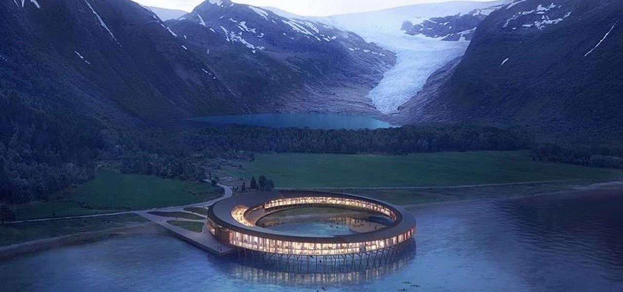 Lo Svart Glacier Hotel, un rendering