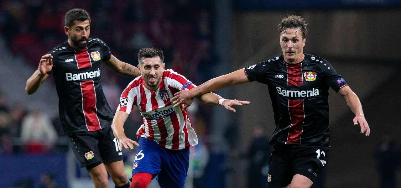 Hector Herrera Demirbay Baumgartlinger Atletico Leverkusen lapresse 2019