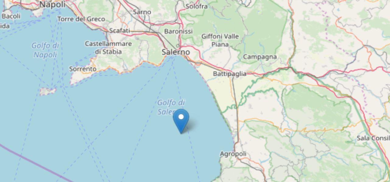 terremoto golfo salerno ingv