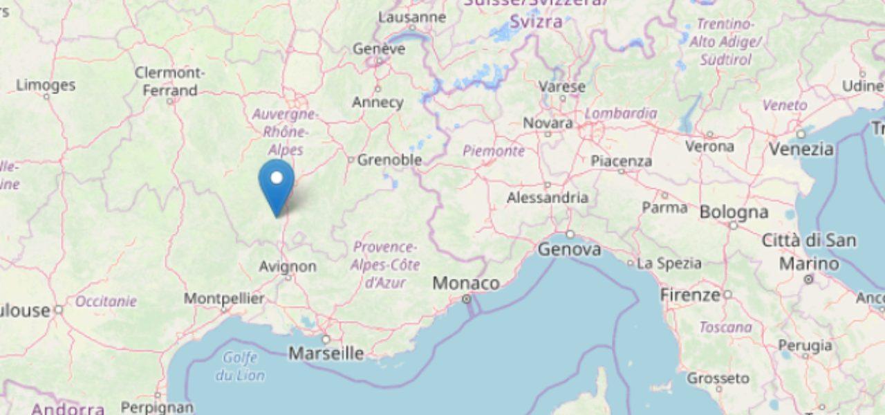 Cartina Francia Sud Dettagliata.Terremoto Oggi Sud Francia M 5 4 Vicino Confine Italia Video Crolli Paura A Lione