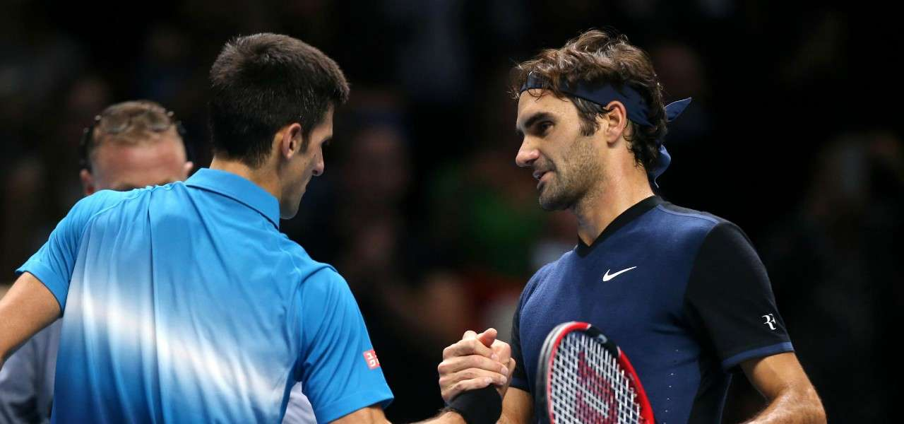 Djokovic Federer Atp Finals saluto lapresse 2019