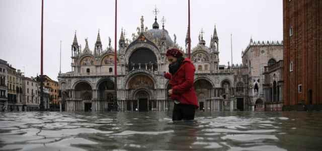 venezia sanmarco acquaalta meteo lapresse1280 640x300