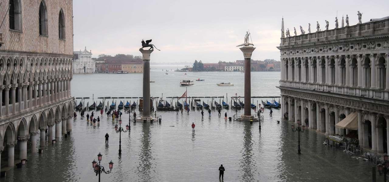 acqua alta venezia maltempo venezia