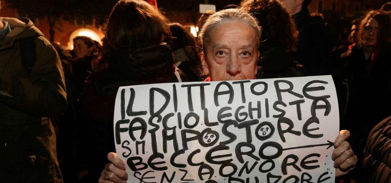 bologna protesta sardine 1 lapresse1280