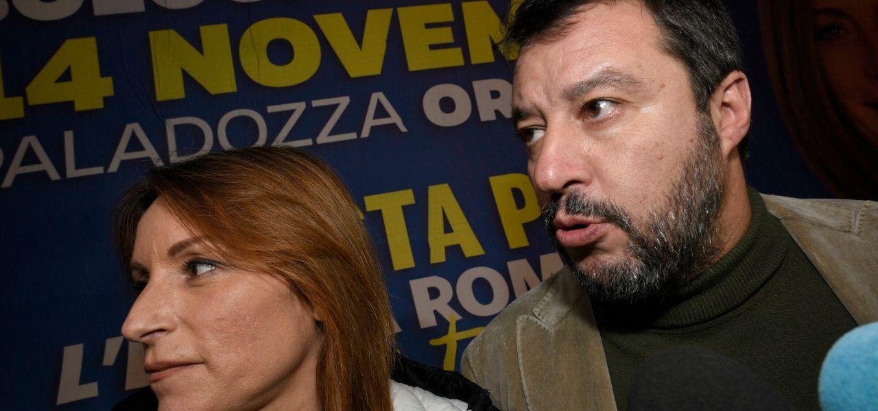 Salvini e Borgonzoni a Bologna