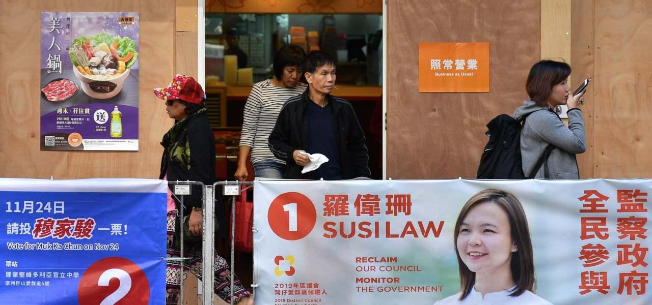 Elezioni Hong Kong