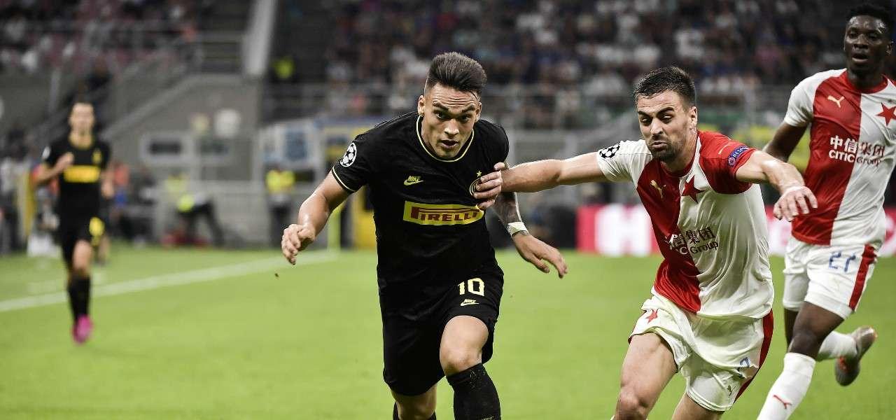 Lautaro Martinez Inter Slavia Praga lapresse 2019