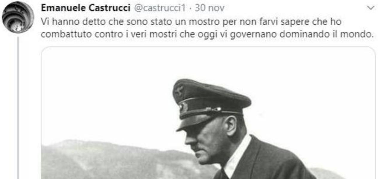Emanuele Castrucci Sequestro Profilo Twitter Frase Hilter