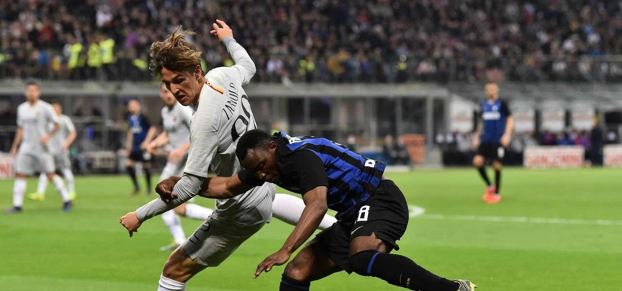 Zaniolo Asamoah Inter Roma lapresse 2019
