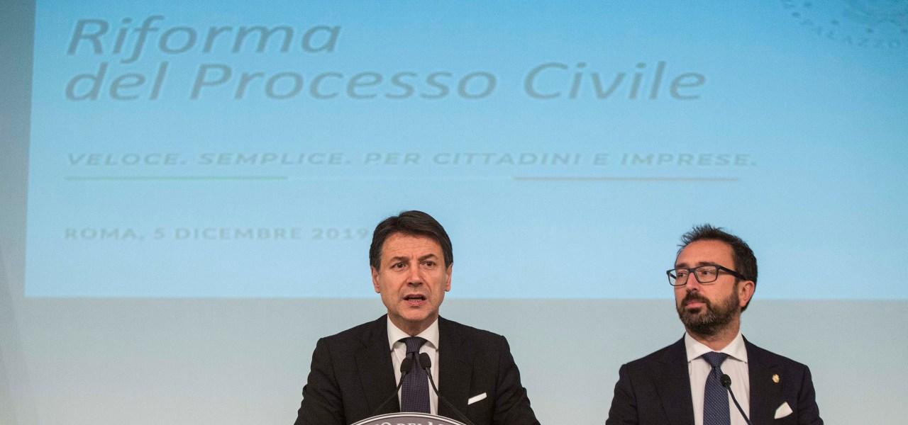 Conte e Bonafede, riforma processo