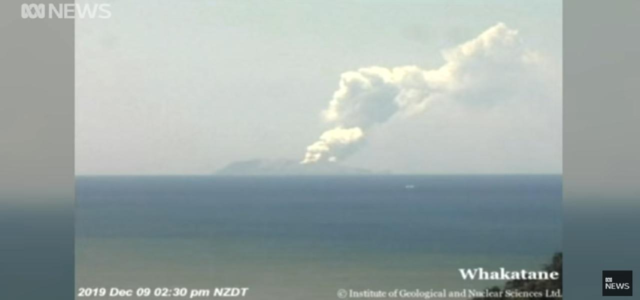 Nuova Zelanda eruzione vulcano White Island