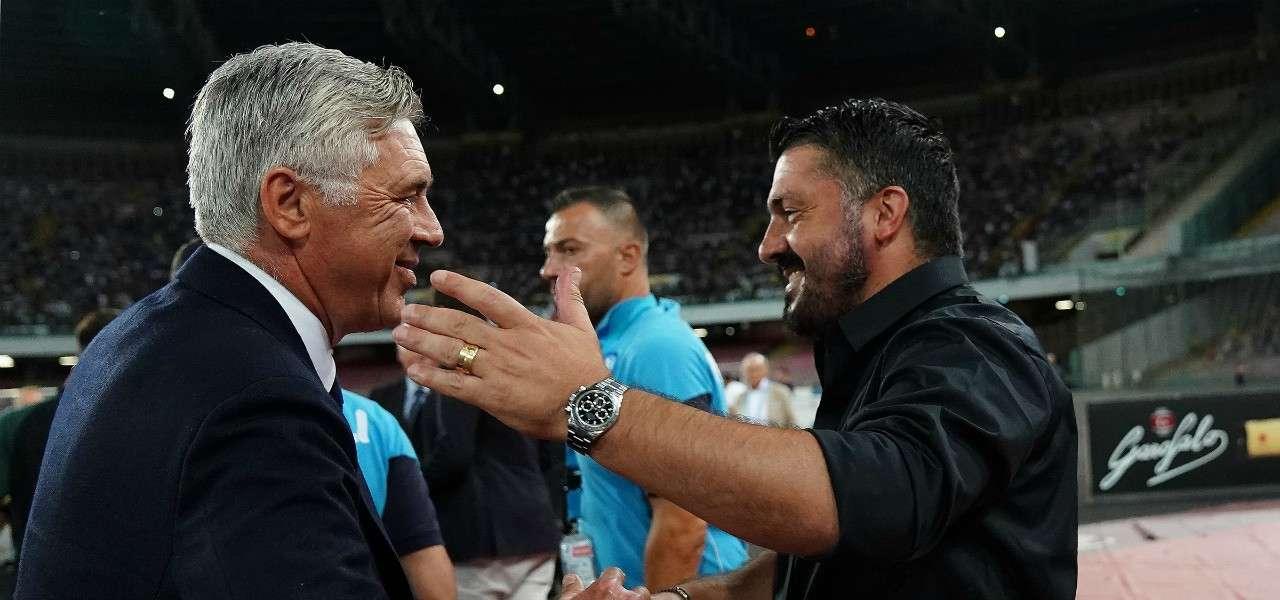 Gattuso e Ancelotti Napoli