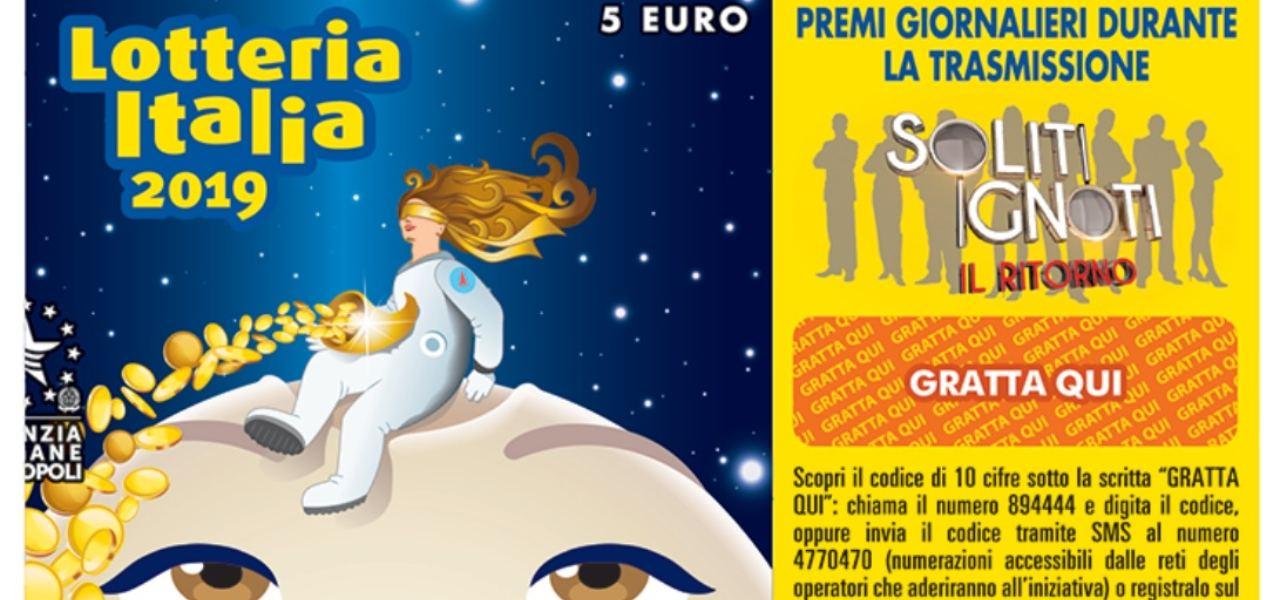 Biglietto della Lotteria Italia 2019 (fac-simile)