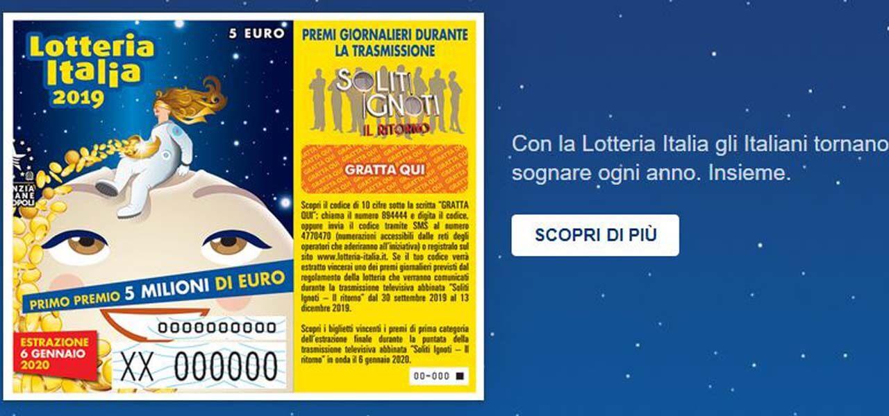 lotteria italia seconda categoria