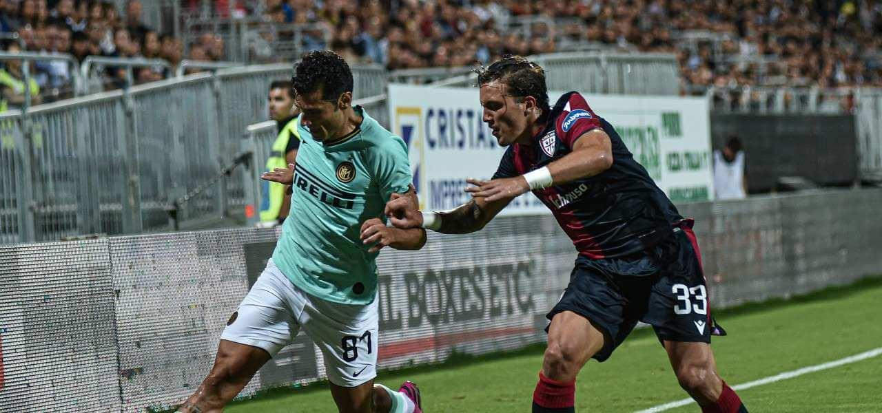 Candreva Luca Pellegrini Inter Cagliari lapresse 2020