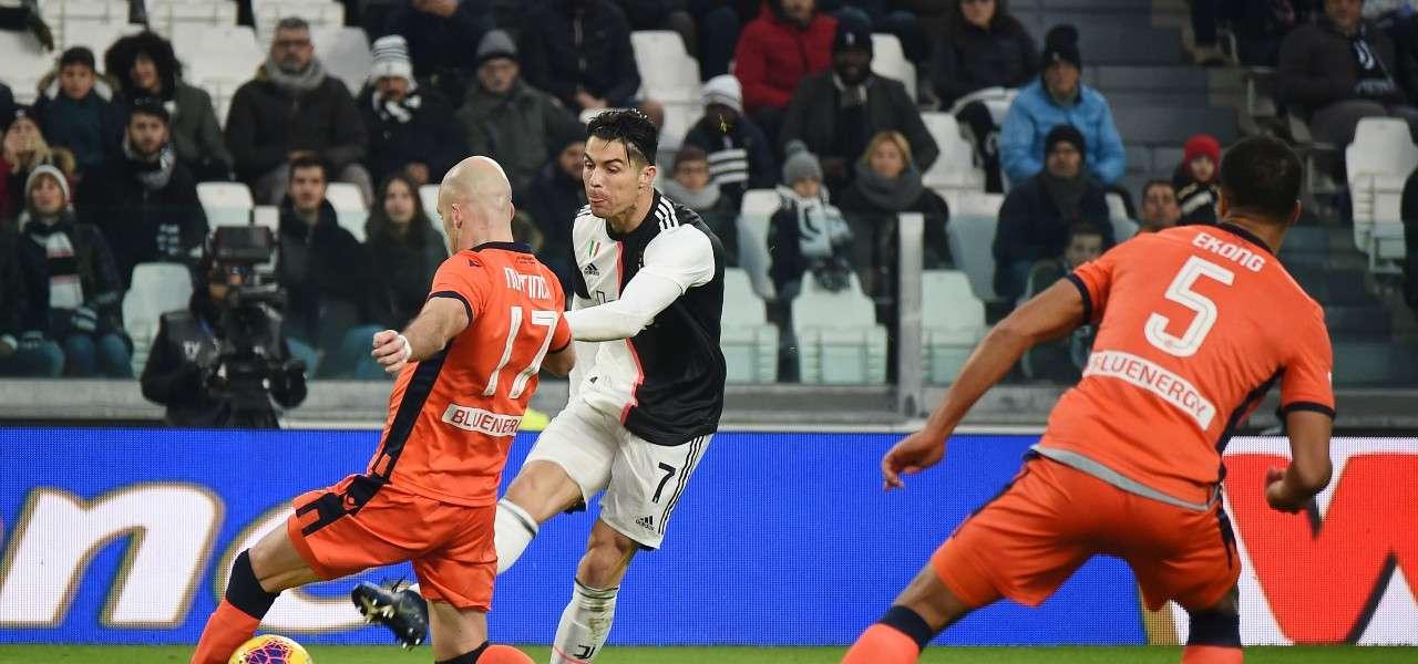 Cristiano Ronaldo Nuytinck Juventus Udinese lapresse 2020