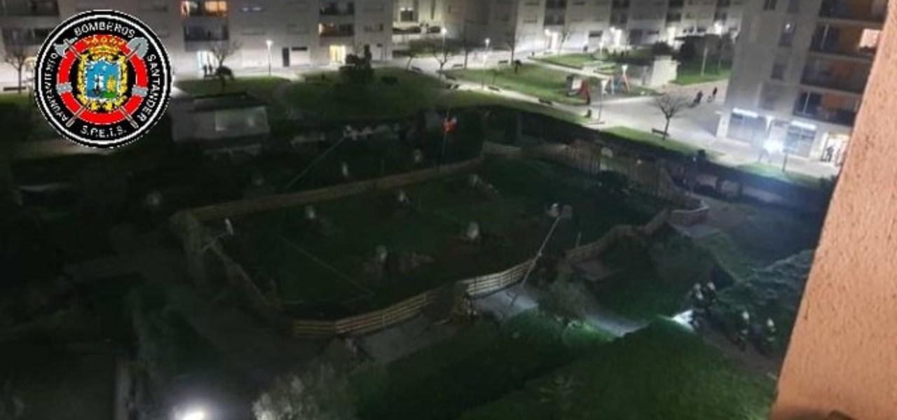 Parco giochi crolla in Spagna