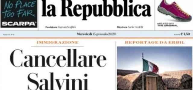 Titolo Repubblica vs Salvini