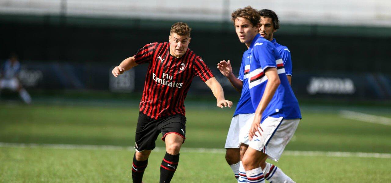 Barazzetta Milan Sampdoria Primavera lapresse 2020