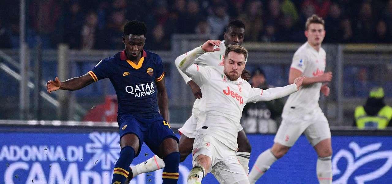Diawara Ramsey Roma Juventus lapresse 2020