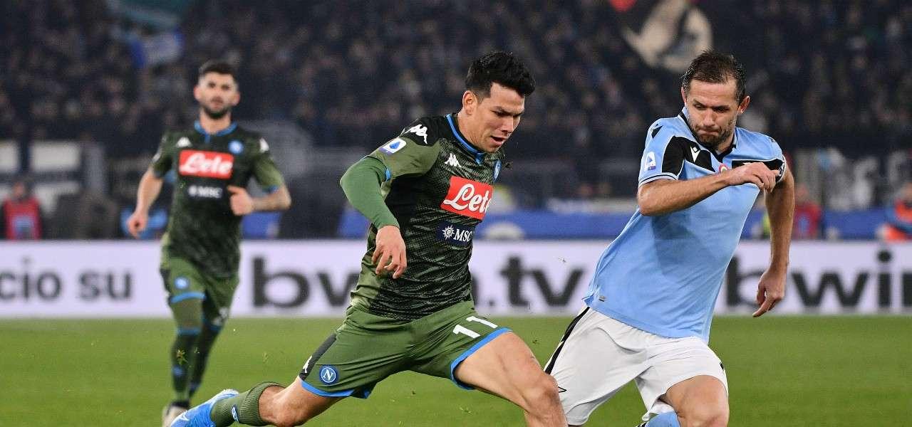 Lozano Lulic Napoli Lazio lapresse 2020