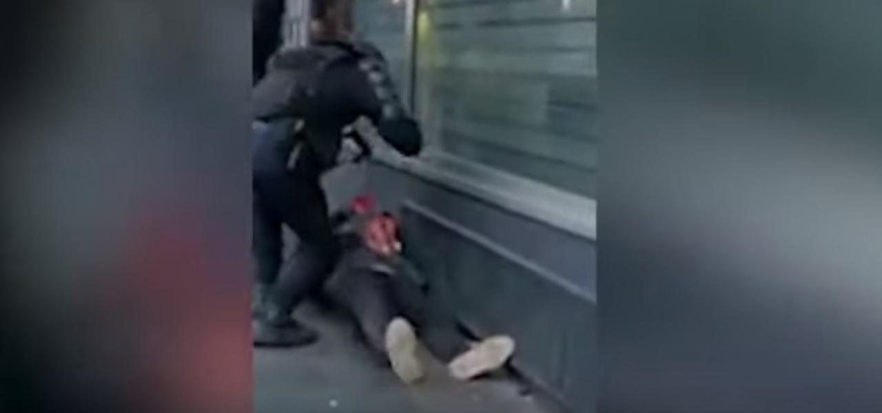 Francia pestaggio poliziotto
