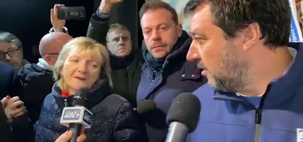 Anna Rita Biagini e Matteo Salvini