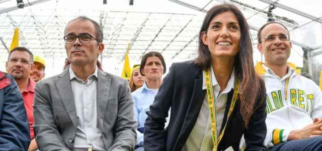 Andrea Severini e Virginia Raggi