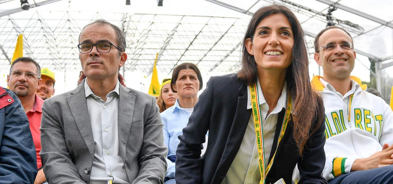 Andrea Severini e Virginia Raggi