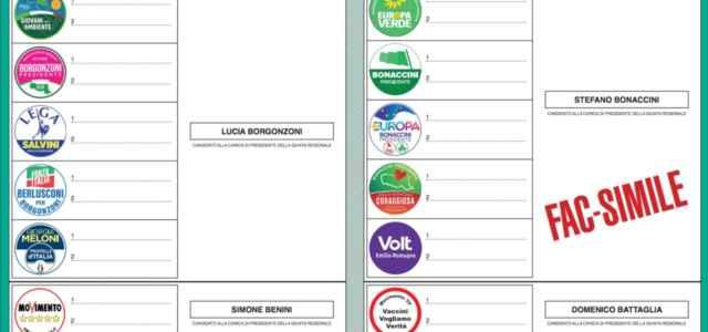 Regionali, scheda elettorale
