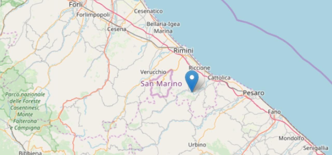 Terremoto oggi Rimini
