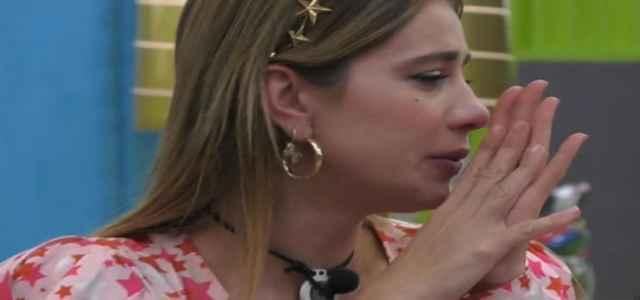 clizia incorvaia piange grande fratello vip 640x300